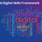 word cloud of words associated with the digital skills framework