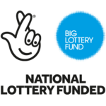 "Big Lottery Fund logo with text saying ""National Lottery Funded"""