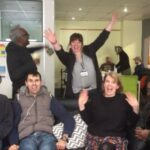Josie Jeffery with learners at YMCA Evolve in Brighton