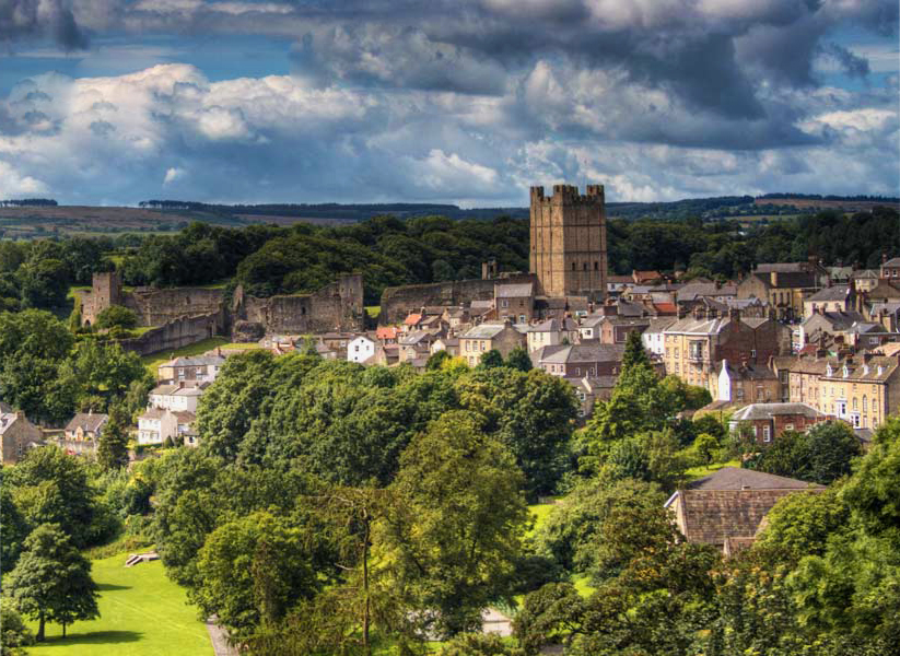 Picture shows view of Richmond castle, North Yorkshire